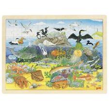 Puzzle Holzpuzzle Einlegepuzzle Über und unter Wasser 96 Teile Goki 57703