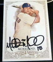 Mitch Moreland SIGNED 2012 Topps Allen & Ginter #8 Rangers Red Sox AUTOGRAPH