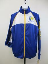 New Indiana Pacers Size L Large-Tall Hardwood Classic Majestic Track Jacket