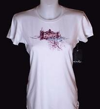 Bnwt Women's Oakley Stretch Paris T Shirt Medium New Crew Neck White New