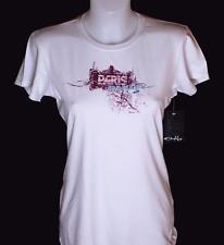Bnwt Women's Oakley Stretch Paris T Shirt Medium New Crew Neck White New