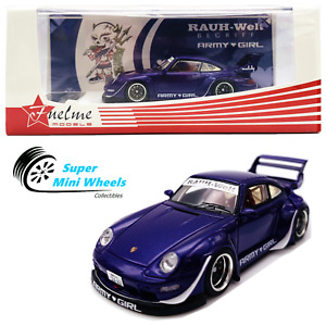 """FuelMe 1/64 RAUH-Welt BEGRIFF RWB Porsche 911 (993)  """"ARMY GIRL"""" (Purple)"""