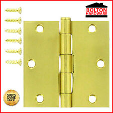 "2"" x 2"" Inch 1.8mm Thickness Solid Brass Hinge Bright Brass Finish HY-1822-605"