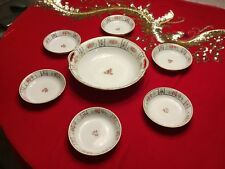 Vintage Set of 7 hand painted NIPPON China Fruit Bowls 1 large and 6 small JAPAN