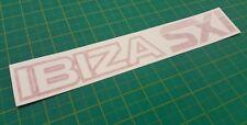 SEAT Ibiza SXI Trasero Escotilla/asados reemplazo Decal Sticker MK1 1988 - 1991