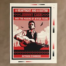 Shepard Fairey A Heartbeat And A Guitar Johnny Cash Press Proof Art Print Obey