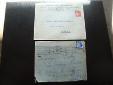 FRANCE - 2 enveloppes 1934 1937 (cy92) french