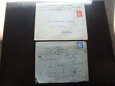 FRANCE - 2 enveloppes 1934 1937 (cy92) french
