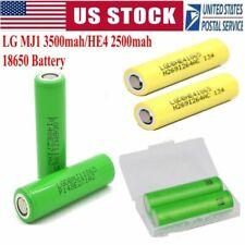2/4/6PCS LG MJ1 3500mah HE4 2500mAh Li-ion 18650 HIGH DRAIN Rechargeable Battery