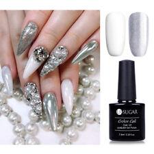 Silver + White Gel Nail Polish UV LED Glitter Party Gel Shiny Varnish DIY 7.5ml