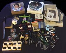 Huge Vintage Junk Drawer Lot~Toys  Compass Mantle Ruth Sports & Misc Photos