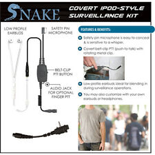 QR Covert SNAKE Ipod-Style Headset for Vertex VX Series 2-Way Radios (See List)