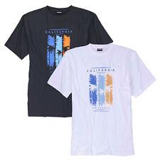 Herren T-Shirt Shirt Bedruckt Kurzarm Shirts Baumwolle Übergrößen 2XL - 12XL