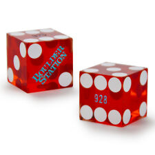 (2) 19mm BOULDER STATION official casino-used precision dice - poker, craps