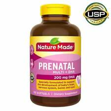 Nature Made Prenatal Multi + DHA,200 Mg DHA 150 Softgels NEW