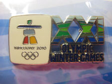 LOT of 12 PINS - Vancouver 2010 Olympics - XXI Cut Out Logo Pin