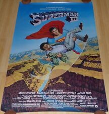 SUPERMAN III 1983 ORIGINAL ROLLED ADVANCE 1 SHEET MOVIE POSTER CHRISTOPHER REEVE