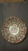 Antique Chinese Export Canton Famille Rose Medallion Punch Bowl Large