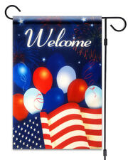 """New American Flag with Balloons Flag 12""""X18"""" Patriotic Welcome Decorative Flag"""