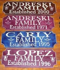HOUSE PERSONALIZED CUSTOM  FAMILY WOOD  SIGN Custom established family sign