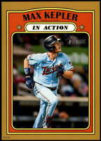 Max Kepler 2021 Topps Heritage In Action 5x7 Gold Minnesota Twins /10
