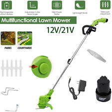 More details for electric cordless garden grass trimmer weed strimmer cutter battery blades uk