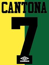Manchester United Cantona Nameset Shirt Soccer Number Letter Heat Football NH