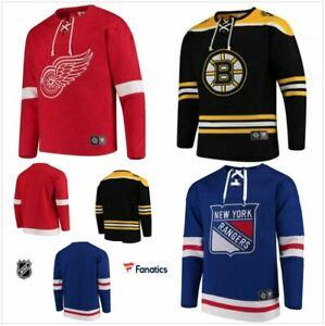 New York Rangers Boston Bruins Detroit Red Wings Fanatics Jersey Sweater Lace Up