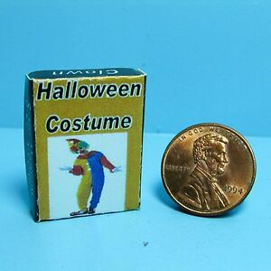 Dollhouse Miniature Replica Halloween Clown Costume Box SH0038