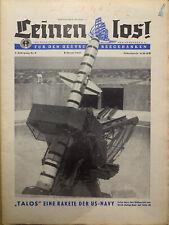 Zeitung - Leinen los! Marinebund  5. Jahrgang Nummer 2 von Februar 1958 Hamburg