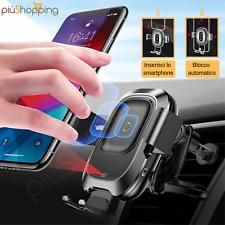 BASEUS 10W QI CARICATORE WIRELESS AUTO SUPPORTO PER IPHONE 8 X XS SAMSUNG S8 S9