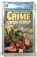 Fight against Crime 20 CGC 3.0, Classic Decapitation Cvr! Pre Code Horror/Crime