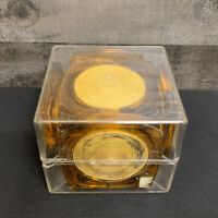Vintage Lucite Coaster Set X 6 Tortoise Shell Swirl Acrylic Mid Century Modern