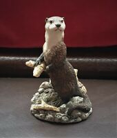 1996 Border Fine Arts Hand Made Figurine  of an Otter - Signed Kirsty