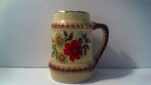 Vintage Mini Yellow Gold Trim Mug Stein Cup Novelty Porcelana Santa Rosa Signed