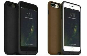 mophie Wireless Charge Force Case Cover for Apple iPhone 7/7 Plus Black/Tan