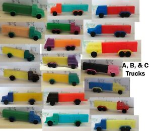 """PEZ - Series """"A""""  """"B""""  & """"C"""" Trucks -  - Choose Color from Menu- Use for Crafts"""