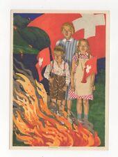 Switzerland 1930 Bundesfeier Postcard 275b