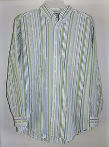 L.L. Bean Men's Long Sleeve Button Front Shirt-Size Medium EUC
