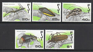 1987 Fiji SC 574-578, MNH Mint NH Set of 5 - Insects, Beetles, and Bugs