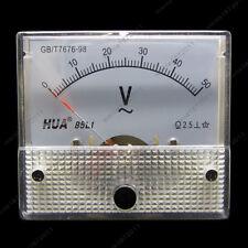 Ac 50v Analog Voltmeter Panel Pointer Volt Voltage Meter Gauge 85l1 0 50v Ac