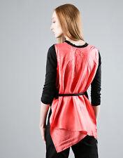COMING SOON by Yohji Yamamoto black coral top t-shirt sweater maglia donna S NWT