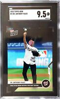2020 Topps NOW Dr. Anthony Fauci #2 - 1st First Pitch Graded SGC 9.5 POP 1