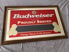 Vintage Budweiser Bar Advertisement Mirror **See pics and description.**