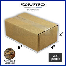 25 5x4x2 Cardboard Packing Mailing Moving Shipping Boxes Corrugated Box Cartons