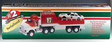 New 7 Eleven Toy Race Car Carrier With Lights and Sound NIB 1996 Limited Edition