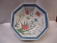Vintage Hand Painted Signed Andrea Fleurs de Chantilly Octagon Shaped Bowl