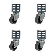 4 Stück Apparaterolle 50 mm Eckplatte Winkel Regale Lenkrollen Transportrollen A