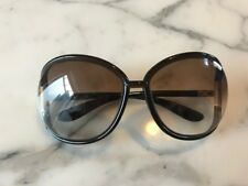 TOM FORD BROWN WITH GOLD METAL SUNGLASSES