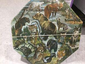 Vintage 1971 Springbok Okta-Puzzle Carnivorous Animals Of N American 500+ Pieces